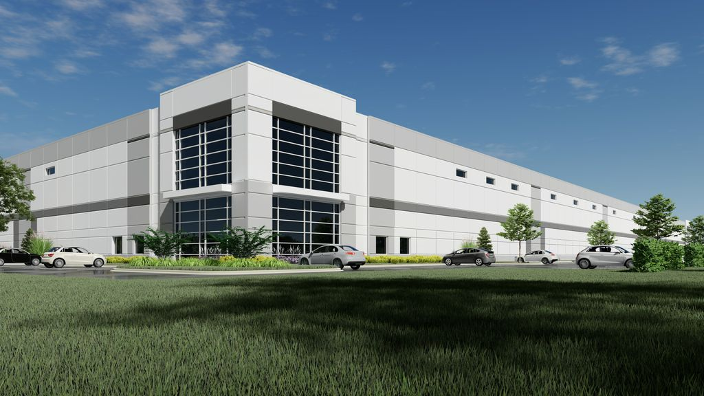 Rendering of Brewster Creek Business Park in Bartlett, Ill.