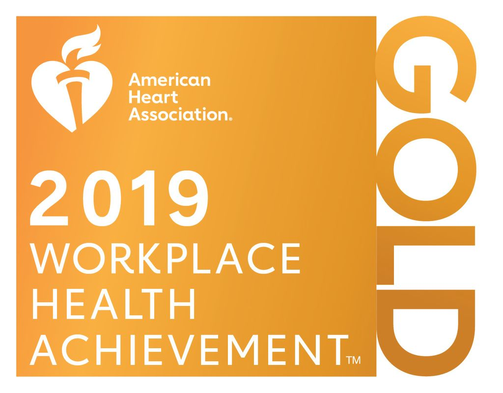 Associated Bank achieved gold level recognition in workplace health achievement.
