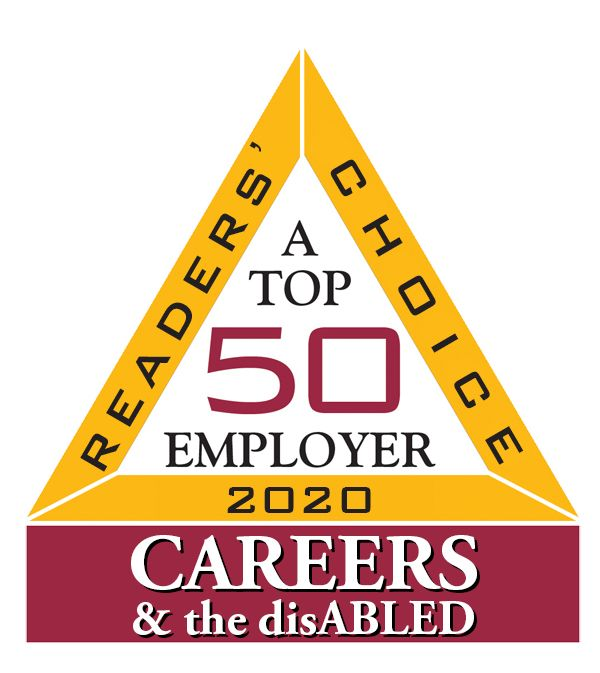 CAREERS & the disABLED magazine's 2020 top 50 employer.