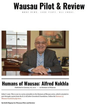 Alfred Nakhla of Associated Bank is featured in Wausau Pilot & Review.