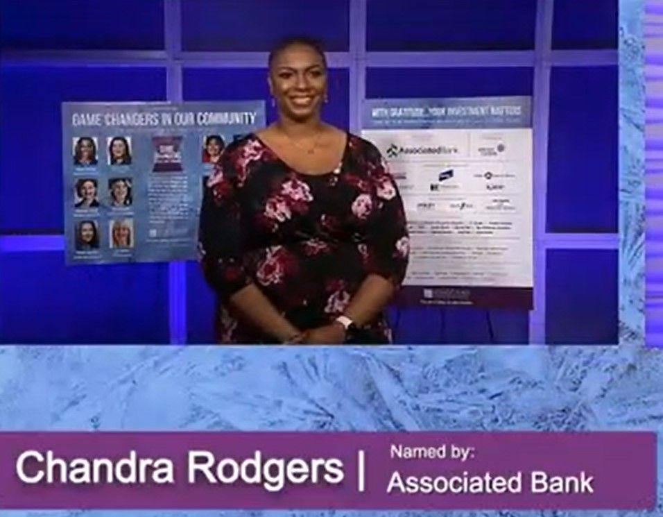 Chandra Rodgers recognized at the Women's Fund of Greater Milwaukee event