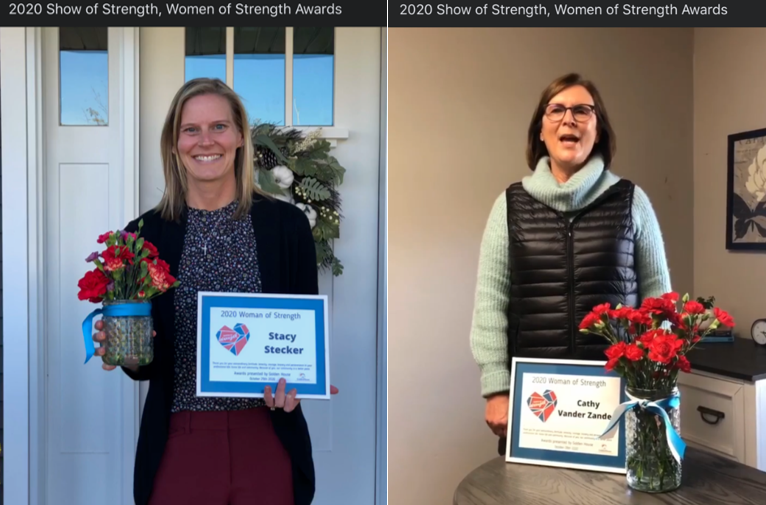 Stacy Stecker and Cathy Vander Zanden of Associated Bank recognized as Women of Strength
