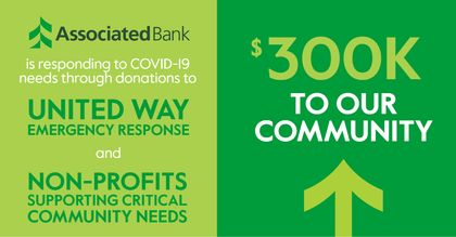 Associated Bank commits $300,000 to support local COVID-19 relief efforts in Wisconsin, Illinois and Minnesota