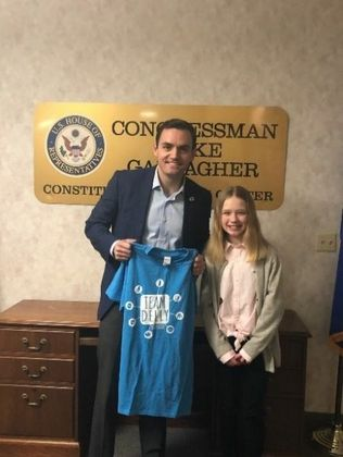 Congressman Mike Gallagher and Delly