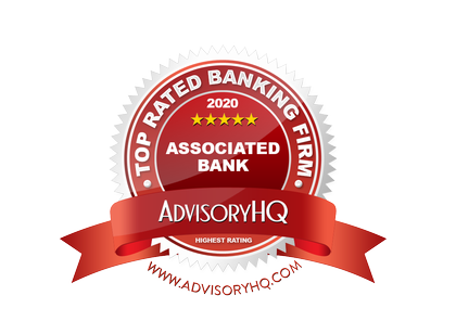 Associated Bank ranked one of the top banks in Illinois by AdvisoryHQ