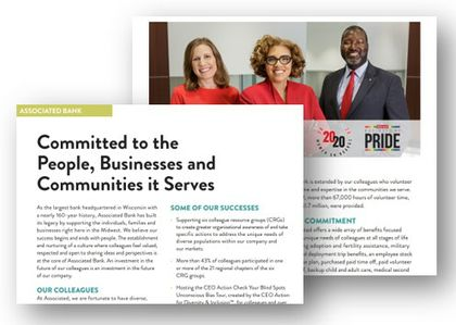 Associated Bank featured in 'Better than Before, Inclusion & Diversity in Northeast Wisconsin'