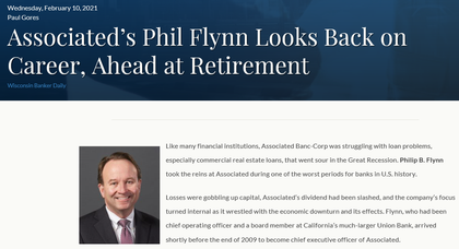 Associated's Phil Flynn Looks Back on Career, Ahead at Retirement, by Wisconsin Bankers Association
