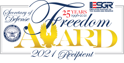 Department of Defense announces 2021 Recipients of Secretary of Defense Employer Support Freedom Award
