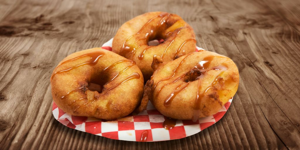 Deep fried caramel rings