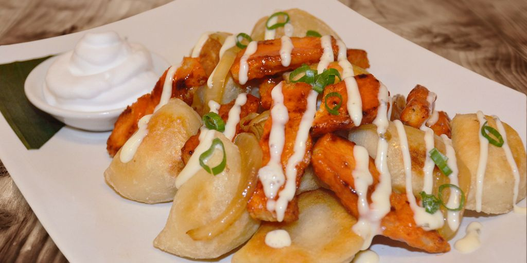Buffalo Chicken Perogies
