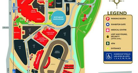 Parade Marshal Parking Map