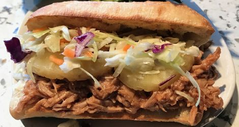 Hawaiian Pulled Pork Sandwich