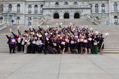 Mary Kay Visits Albany to Lobby For Domestic Violence Prevention Legislation