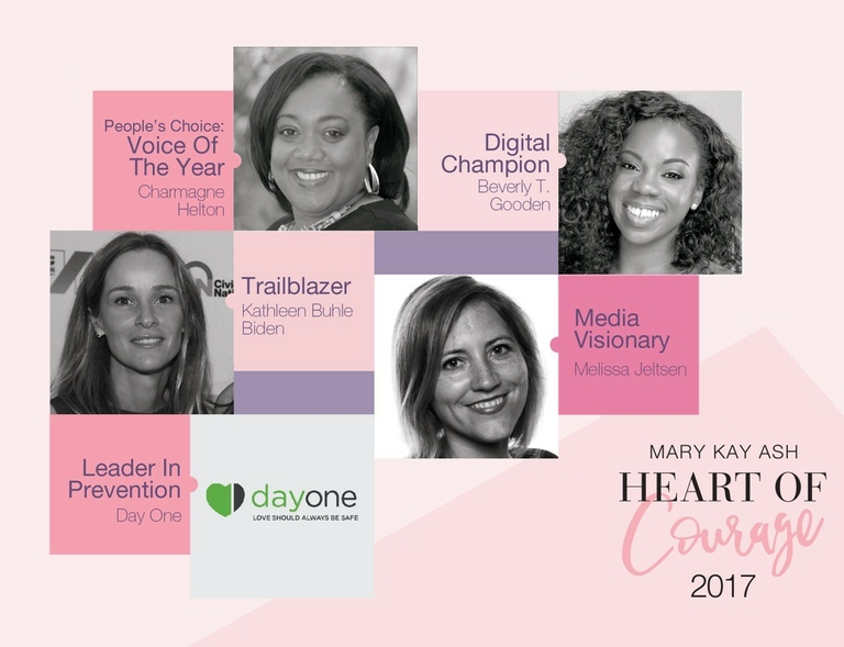 "Trailblazers in the Prevention of Domestic Violence Honored at the  ""Mary Kay Ash Heart of Courage Awards"""