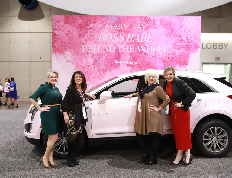 The 2019 Mary Kay pink Cadillac will be on display at the company's annual U.S. Leadership Conference held Jan. 16-23 at the San Diego Convention Center.