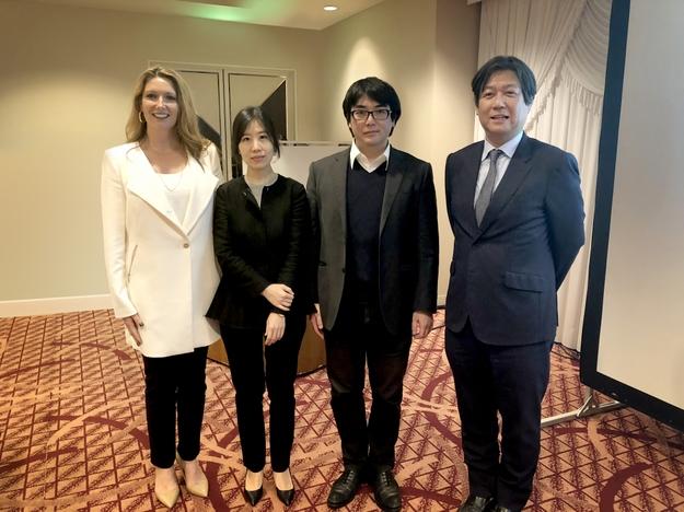 Dr. Lucy Gildea (Mary Kay Inc.), Dr. Sang Eun Lee, Dr. Gyohei Egawa and Dr. Akimichi Morita.