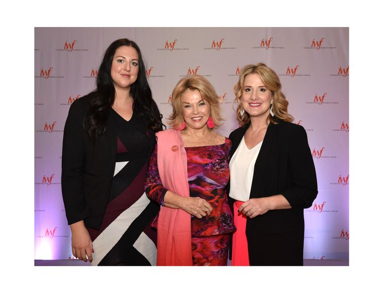 L to R: Marijana Klapcic, Manager Communications, Public Relations & Creative Marketing, MK Canada; Pat Mitchell, author Becoming a Dangerous Woman; Michelle Haurilak, Director, Public Relations, Digital & Product Marketing, MK Canada