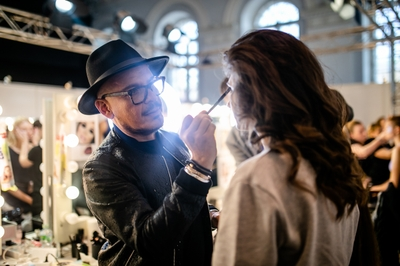 MBFW Russia, Luis Casco prepping runway model