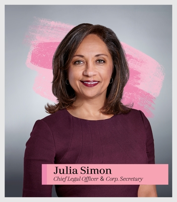 Julia Simon, Chief Legal Officer and Corp. Secretary