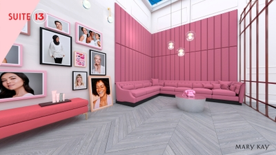 For the design of Suite 13™, Mary Kay partnered with Obsess, a leading experiential e-commerce platform.