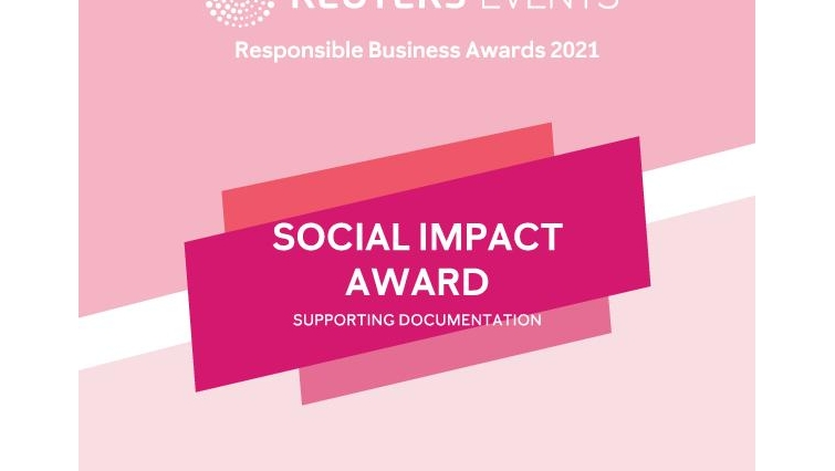 Supporting Documentation for Social Impact Award
