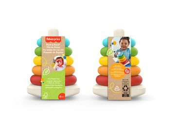 Environmentally sustainable version of the iconic Fisher-Price® Rock-a-Stack®