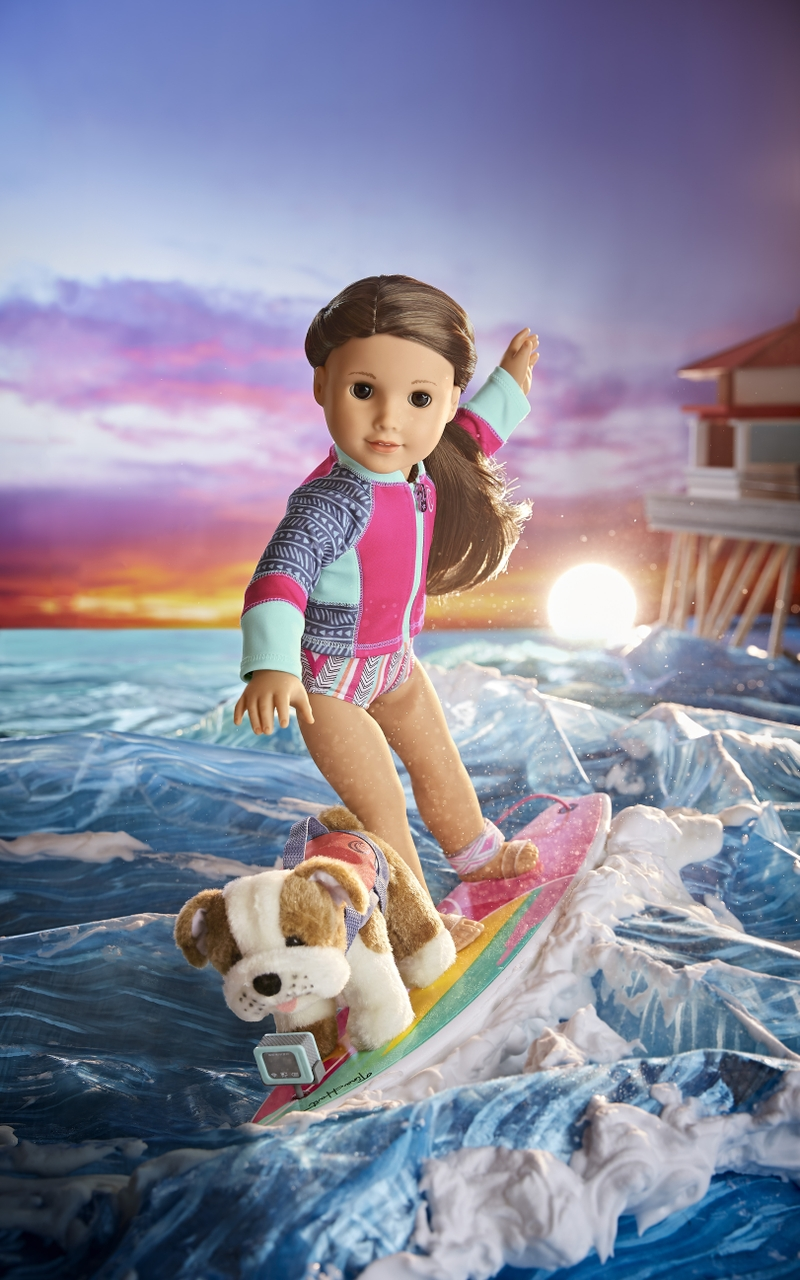 Joss Surf Board Set and Murph Bulldog Doll Set