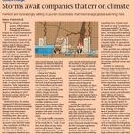 Storms await companies that err on climate