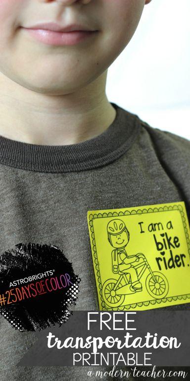 A Modern Teacher - Transportation Tag