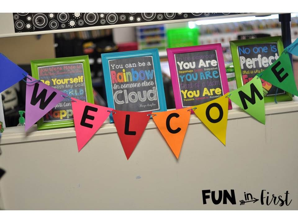 Fun in First - Welcome Banner