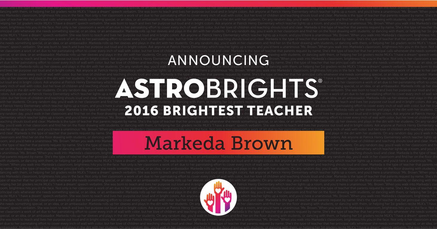2016 Brightest Teacher