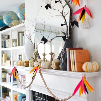 Halloween Mantel Garland by Lay Baby Lay