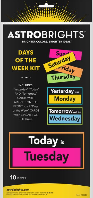Astrobrights® Days of the Week