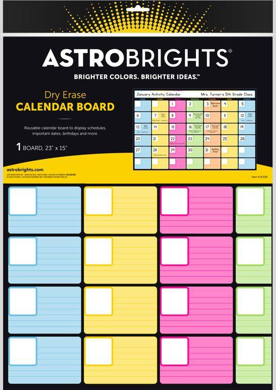 Astrobrights® Dry-Erase Calendar Board