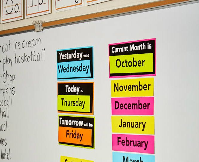 Astrobrights Classroom Decor Days of the Week