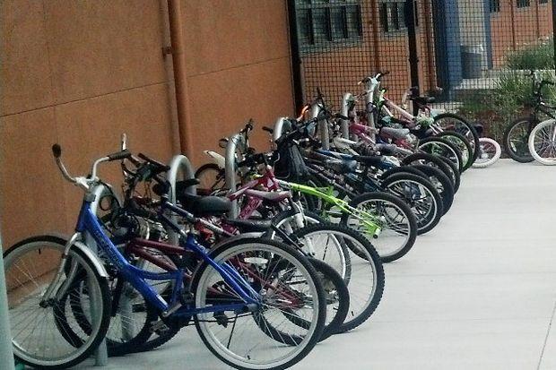 School bike rack by East Bay Bike Coalition