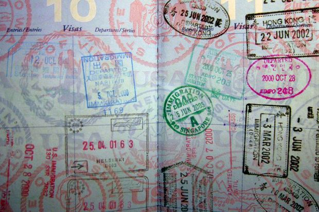 passport stamps by Ho John Lee