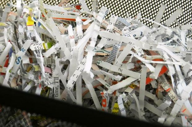 shredded paper for id theft or shredathon