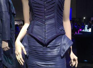 Upcycled design by: Randy Oribello, HonCC Fashion Technology Program graduate