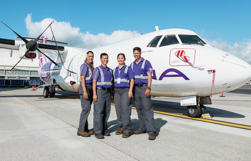 Ground Crew Outside ATR72