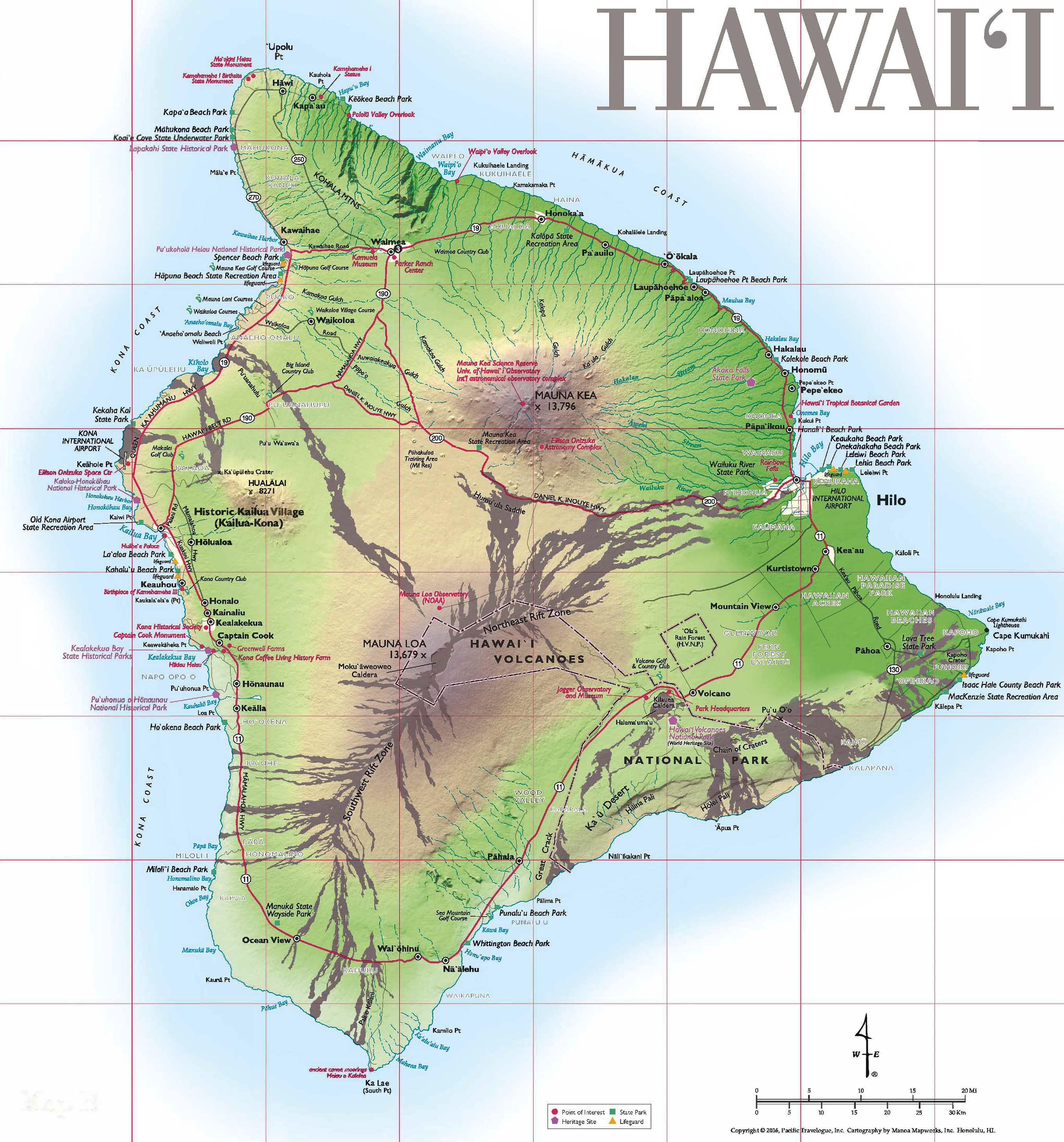 Pocket Map Big Island May 2018