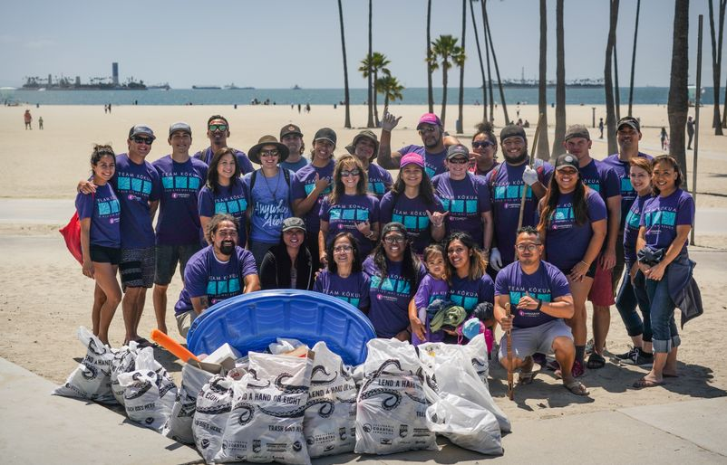 Team Kokua at Long Beach Cleanup