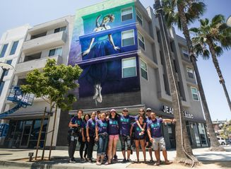 Team Kokua and the PWLGB Mural