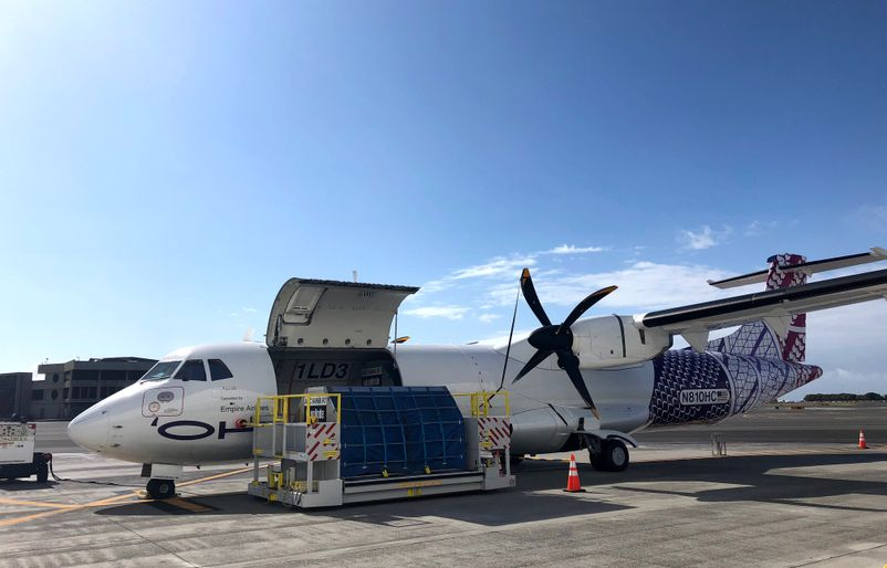 ATR72 Being Loaded with Donations