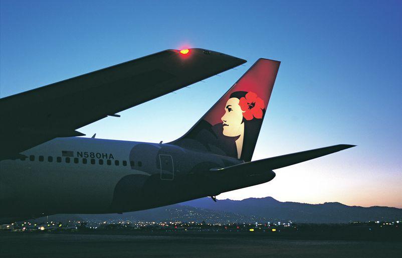 Boeing 767 at Dusk