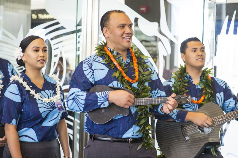 Olelo Hawaii Flight HNL-LAS Honoring Dr. Larry Kimura