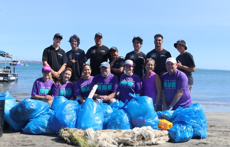 Team Kōkua and New Zealand's Sea Cleaners Restore Kiwi Shores with Three Hawai'i Youth