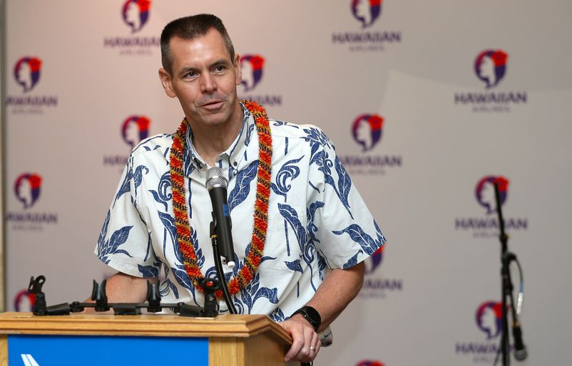 President and CEO Peter Ingram. Credit Hawaiian Airlines
