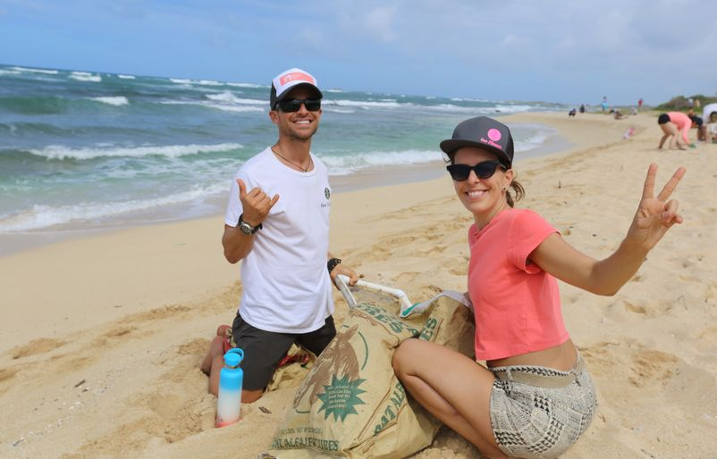 Hawaiian Airlines Beach Cleanup - PC Hawaiian Airlines