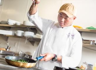 Chef Chung Action Shot